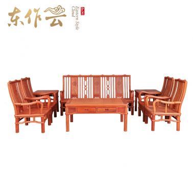 缅甸花梨802沙发八件套
