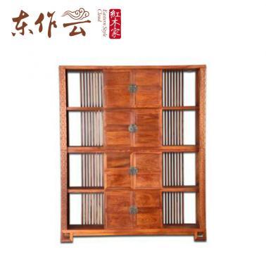 非洲花梨(刺猬紫檀)新中式书柜单件
