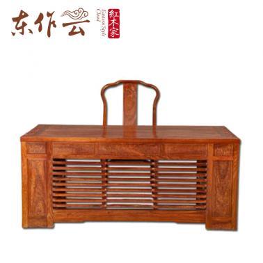 非洲花梨(刺猬紫檀)祥云书桌二件套