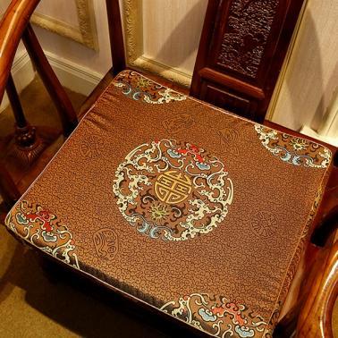 新中式古典红木实木沙发坐垫圈椅餐椅靠垫仿古靠背