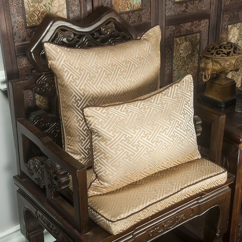 靠枕古典现代中式靠垫抱枕沙发靠垫红木家具靠枕定制圈椅坐垫图片